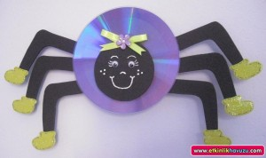 cd spider craft for kids