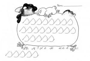 chicken trace worksheet