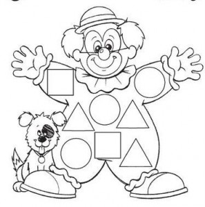 clown shape worksheet