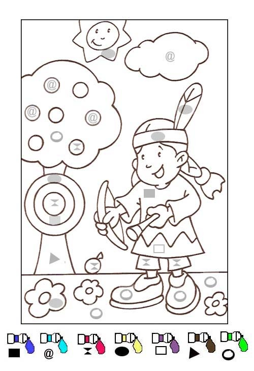 Crafts actvities and worksheets for preschool toddler and for Color by shape coloring pages