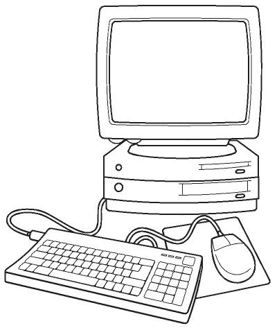 Computers coloring pages ~ Crafts,Actvities and Worksheets for Preschool,Toddler and ...