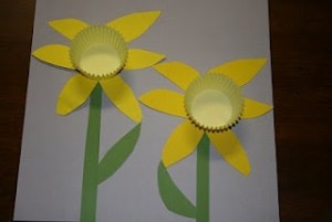 cupcake cap flower craft