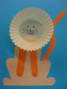 cupcake cap lion craft
