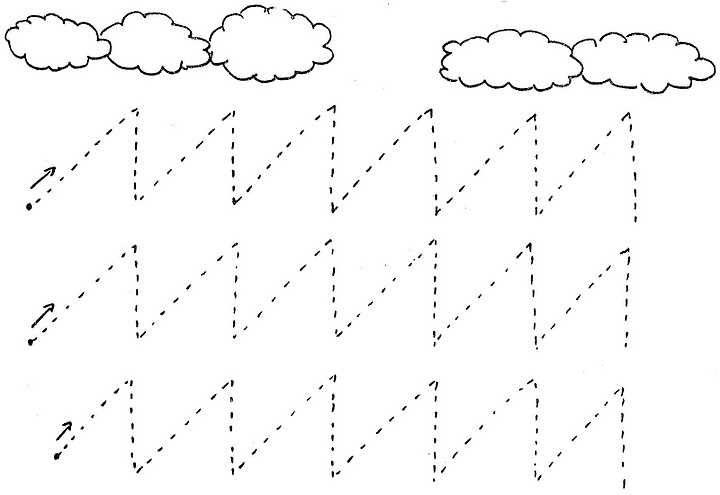 Crafts,Actvities and W...Zigzag Coloring Page