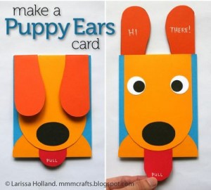dog card craft