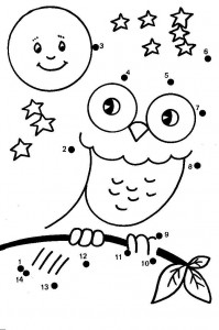 dot to dot owl
