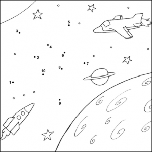 Space worksheet for kids Crafts