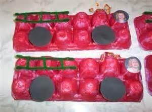 egg carton Firetruck craft