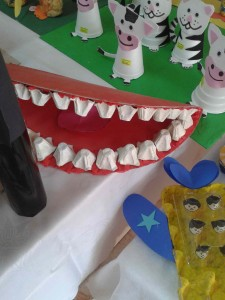 egg carton tooth bulletin board