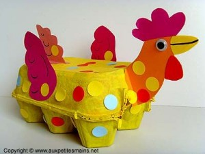 egg cartoon chicken craft