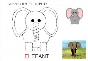 elephant trace worksheet