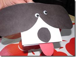 envelope dog craft for kids
