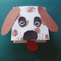 envelope dog craft