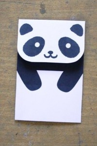 envelope panda craft