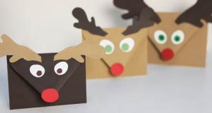 envelope reindeer craft
