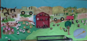 farm bulletin board for kids