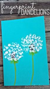 fingerprint flower craft