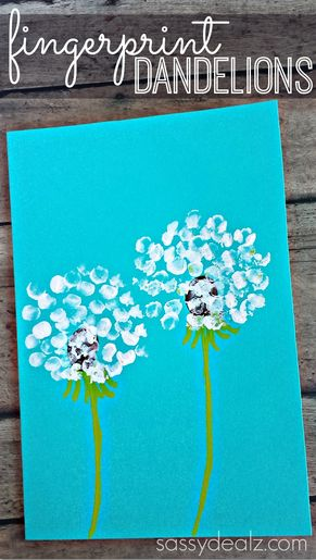 fingerprint flower craft