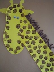 fingerprint giraffe craft