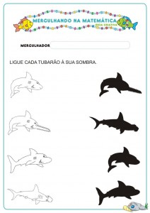 fish shadow match worksheet