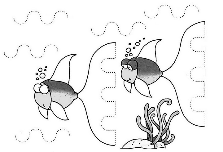 CraftsActvities and Worksheets for PreschoolToddler and Kindergarten – Fish Worksheets