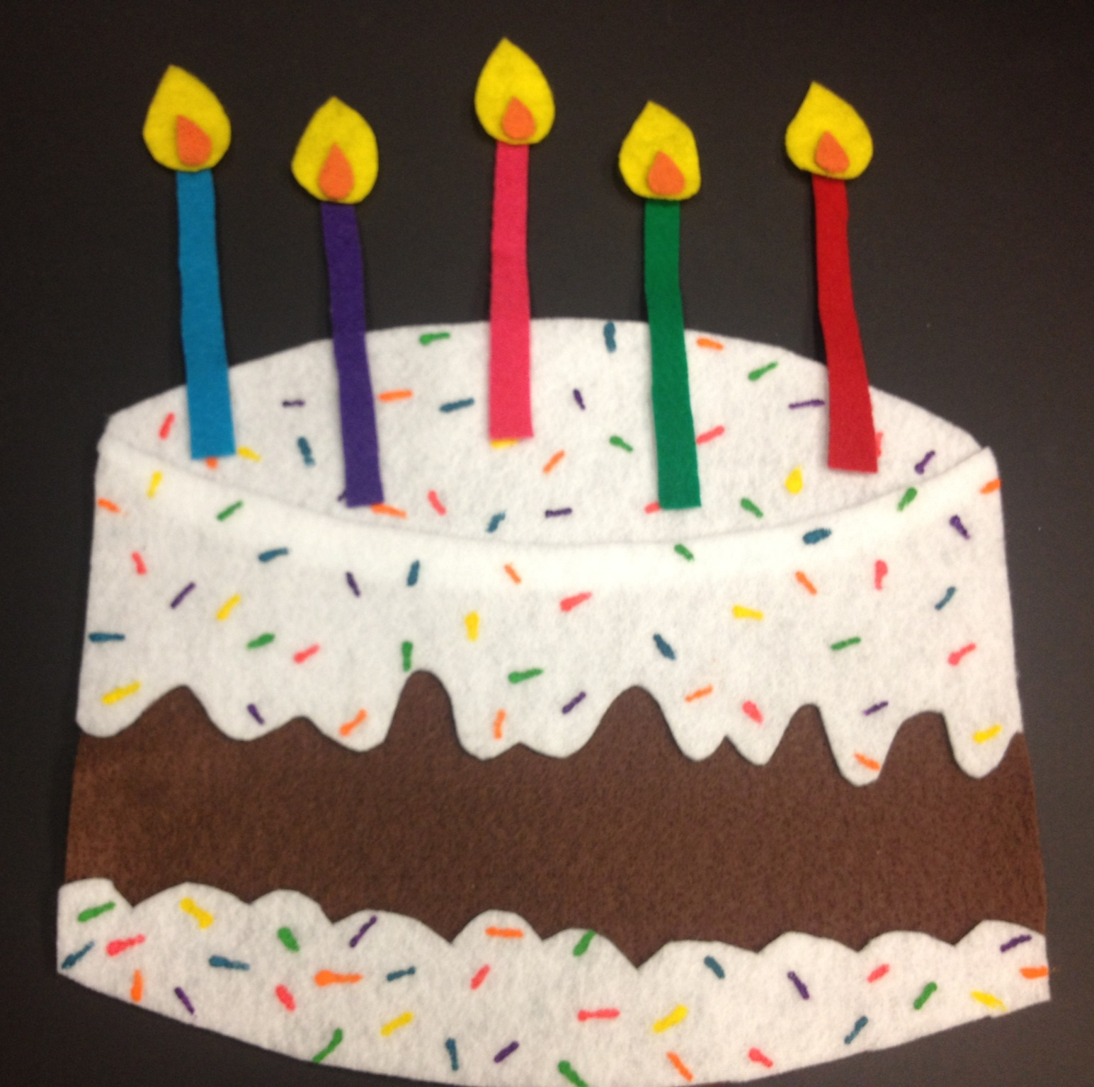 Birthday Cake Craft For Preschoolers