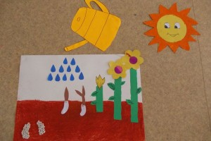 flower grow bulletin board