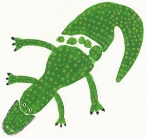 footprint crocodile craft