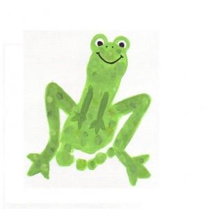 footprint frog craft