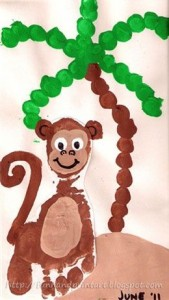 footprint monkey craft