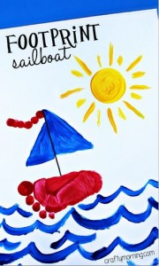 footprint sailboat craft