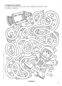 free astronaut maze worksheet 1