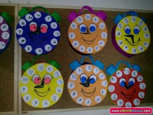 free clock craft for kids