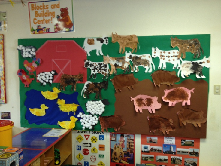 Free Farm Bulletin Board on free printable animal pattern worksheet for kindergarten