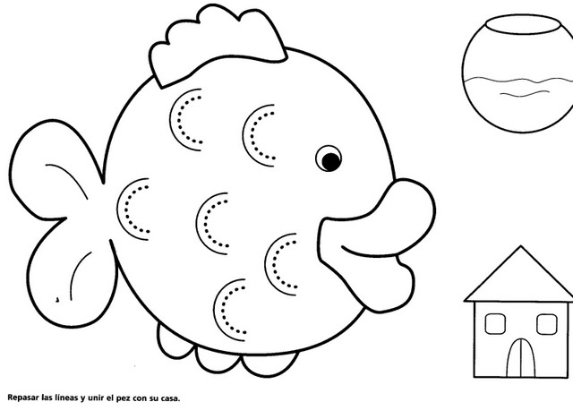 CraftsActvities and Worksheets for PreschoolToddler and Kindergarten – Fish Worksheet