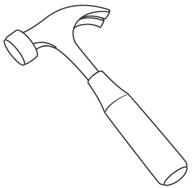 Free Hammer Colorin on christmas clipart