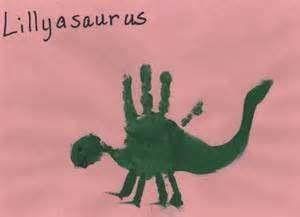 free handprint dinosaur