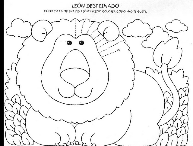 Lion Worksheets For Kindergarten