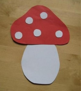 free mushroom craft idea for kids