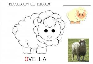 free sheep trace worksheet