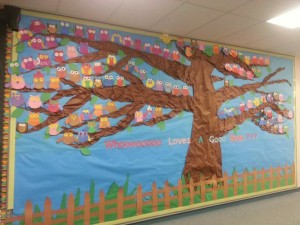 free spring bulletin board idea for kids (1)