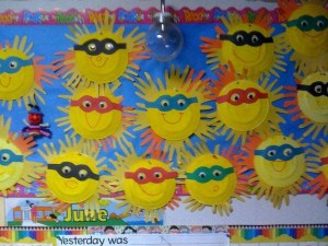 free spring bulletin board idea for kids (2)