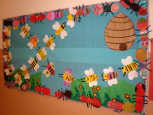free spring bulletin board idea for kids (3)