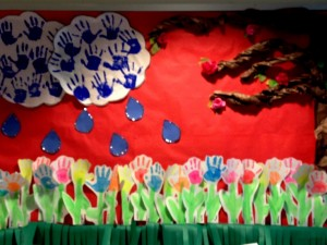free spring bulletin board idea for kids (4)