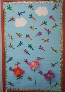 free spring bulletin board idea for kids (5)