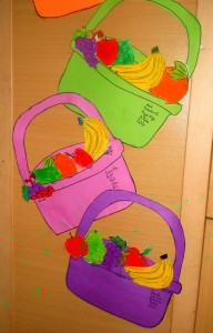 Fruit basket craft idea for kids