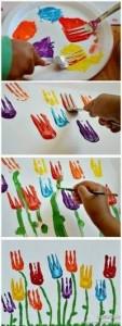 frokprint tulip craft