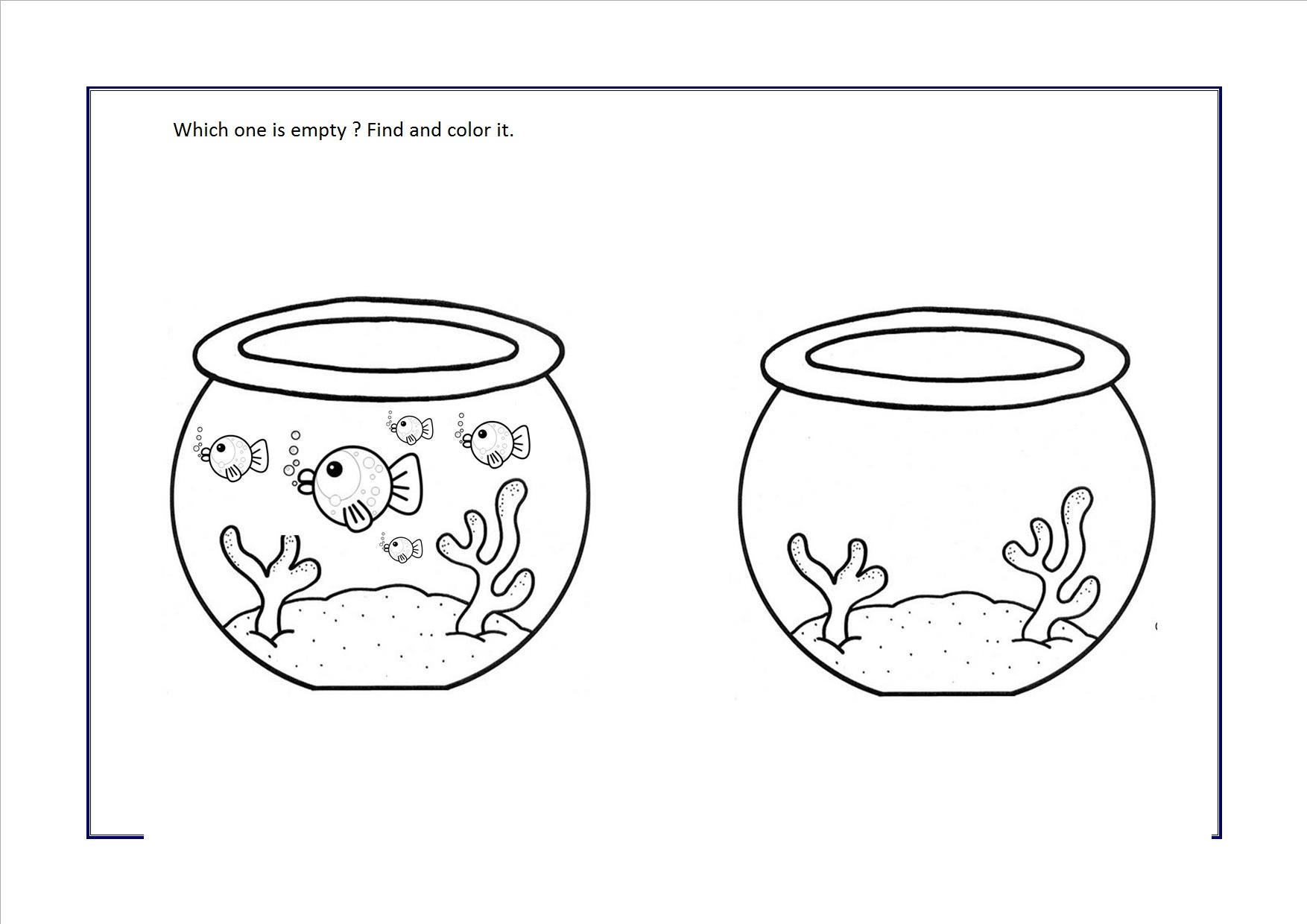 Worksheet Full Empty full or empty worksheets for preschool crafts and easy 1