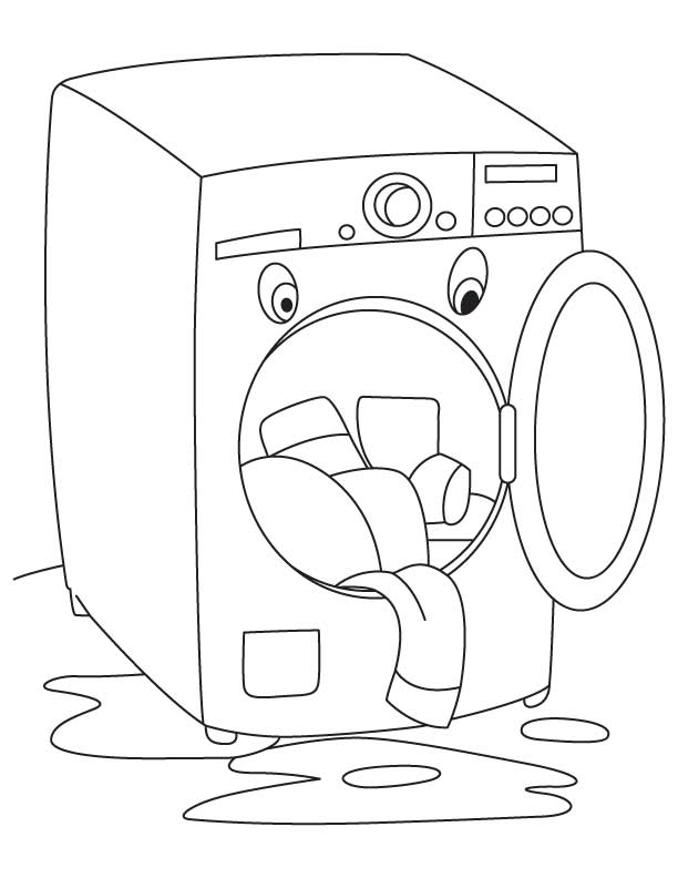fully-automatic-washing-machine-coloring | Crafts and ...