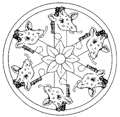 Crafts actvities and worksheets for preschool toddler and for Giraffe mandala coloring pages